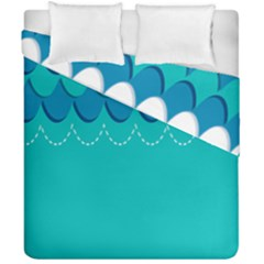 Sea Wave Blue Water Beach Duvet Cover Double Side (california King Size) by Alisyart