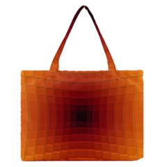 Orange Background Wallpaper Texture Lines Medium Zipper Tote Bag by Amaryn4rt