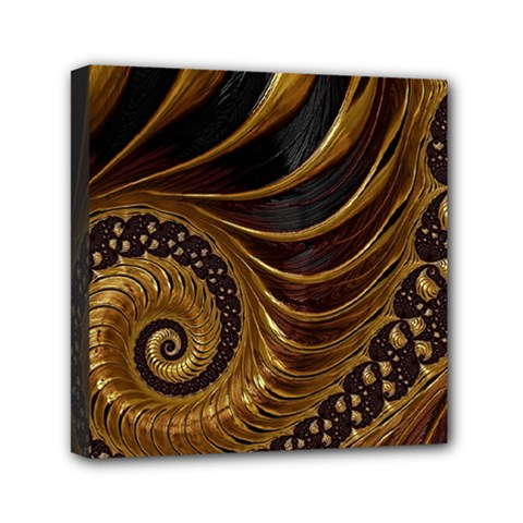 Fractal Spiral Endless Mathematics Mini Canvas 6  X 6  by Amaryn4rt