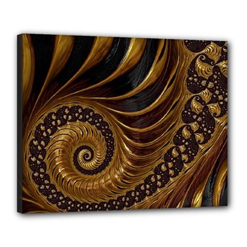 Fractal Spiral Endless Mathematics Canvas 20  X 16  by Amaryn4rt