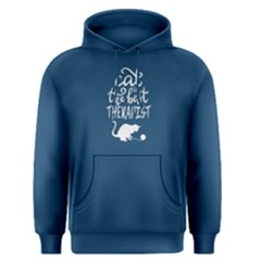 blue cat is the best therapist  Men s Pullover Hoodie by Project01