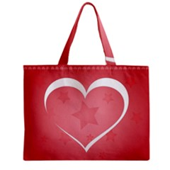 Postcard Banner Heart Holiday Love Zipper Mini Tote Bag by Amaryn4rt