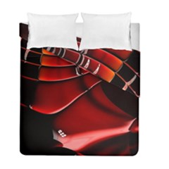 Red Black Fractal Mathematics Abstract Duvet Cover Double Side (full/ Double Size)
