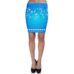 Desktop Banner Postcard Hearts Bodycon Skirt by Amaryn4rt