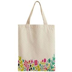 Spring Floral Flower Rose Tulip Leaf Flowering Color Zipper Classic Tote Bag by Alisyart