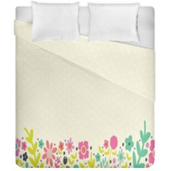 Spring Floral Flower Rose Tulip Leaf Flowering Color Duvet Cover Double Side (california King Size) by Alisyart
