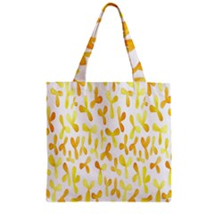 Springtime Yellow Helicopter Zipper Grocery Tote Bag by Alisyart