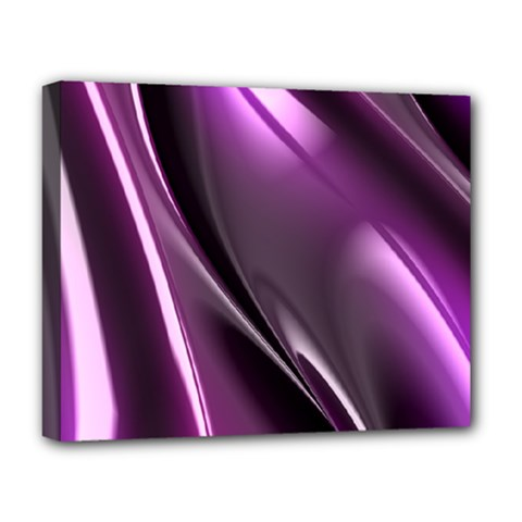 Purple Fractal Mathematics Abstract Deluxe Canvas 20  X 16   by Amaryn4rt