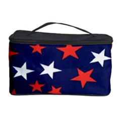 Star Red White Blue Sky Space Cosmetic Storage Case by Alisyart