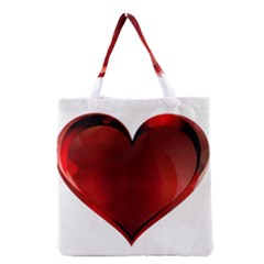 Heart Gradient Abstract Grocery Tote Bag