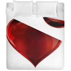 Heart Gradient Abstract Duvet Cover Double Side (california King Size) by Amaryn4rt