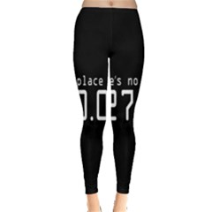 There s No Place Like Number Sign Leggings  by Alisyart