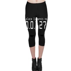 There s No Place Like Number Sign Capri Leggings  by Alisyart