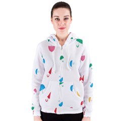 Umbrella Green Orange Red Blue Pink Water Rain Women s Zipper Hoodie