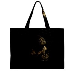 Skull Fantasy Dark Surreal Zipper Mini Tote Bag by Amaryn4rt