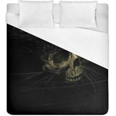 Skull Fantasy Dark Surreal Duvet Cover (king Size) by Amaryn4rt
