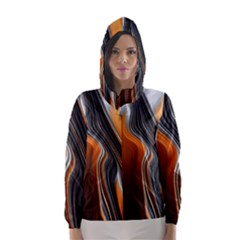 Fractal Structure Mathematic Hooded Wind Breaker (women)
