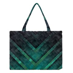 Green Background Wallpaper Motif Design Medium Tote Bag by Amaryn4rt