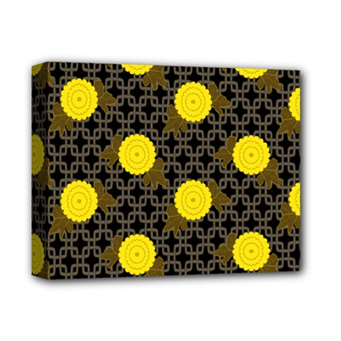 Sunflower Yellow Deluxe Canvas 14  X 11  by Alisyart