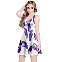 Vegetables Eggplant Purple Reversible Sleeveless Dress