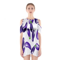 Vegetables Eggplant Purple Shoulder Cutout One Piece by Alisyart