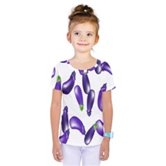 Vegetables Eggplant Purple Kids  One Piece Tee by Alisyart