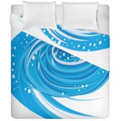 Water Round Blue Duvet Cover Double Side (california King Size)