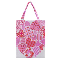 Valentines Day Pink Heart Love Classic Tote Bag by Alisyart