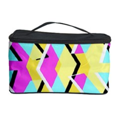 Bright Zig Zag Scribble Yellow Pink Cosmetic Storage Case by Alisyart
