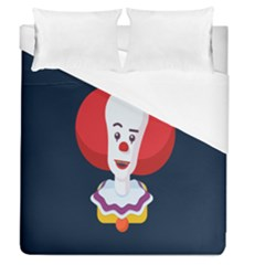 Clown Face Red Yellow Feat Mask Kids Duvet Cover (queen Size) by Alisyart