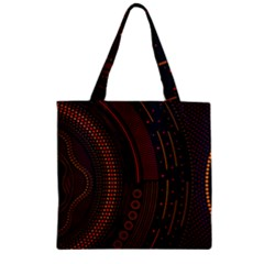 Creative Direction Illustration Graphic Gold Red Purple Circle Star Zipper Grocery Tote Bag by Alisyart