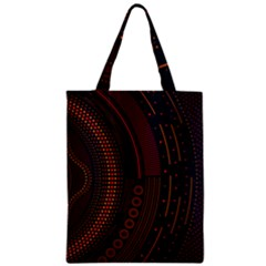 Creative Direction Illustration Graphic Gold Red Purple Circle Star Zipper Classic Tote Bag by Alisyart