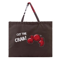 Cutthe Crab Red Brown Animals Beach Sea Zipper Large Tote Bag by Alisyart