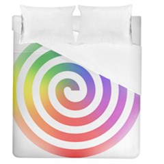 Circle Purple Blue Red Green Yellow Duvet Cover (queen Size) by Alisyart
