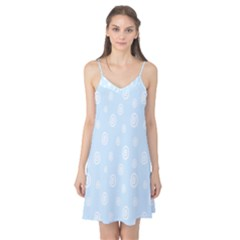 Circle Blue White Camis Nightgown