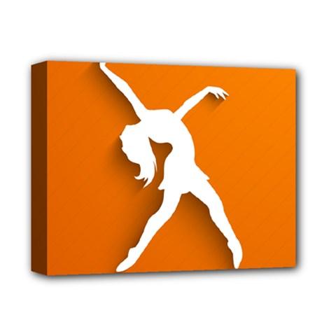Dance Dancing Orange Girl Deluxe Canvas 14  X 11  by Alisyart
