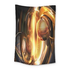 Digital Art Gold Small Tapestry by Alisyart