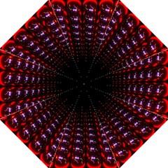 Digital Balls Lights Purple Red Straight Umbrellas by Alisyart
