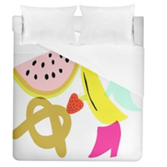 Fruit Watermelon Strawberry Banana Orange Shoes Lime Duvet Cover (queen Size)