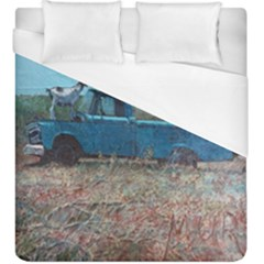 Goats on a Pickup Truck Duvet Cover (King Size) by theunrulyartist