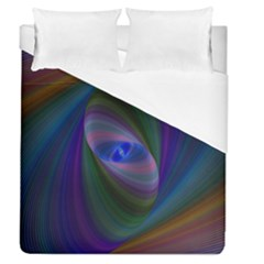 Ellipse Fractal Computer Generated Duvet Cover (queen Size) by Amaryn4rt