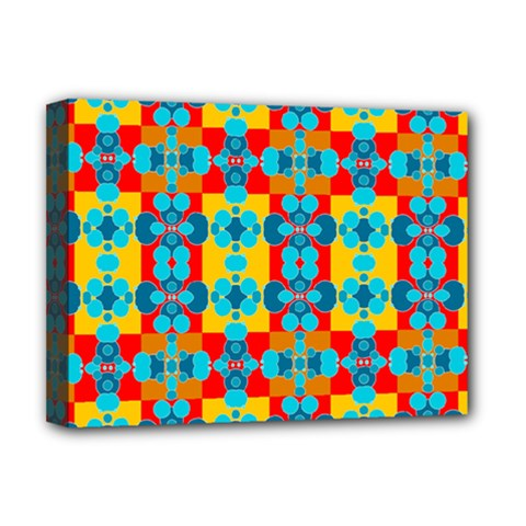 Pop Art Abstract Design Pattern Deluxe Canvas 16  X 12   by Amaryn4rt