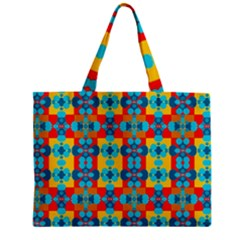 Pop Art Abstract Design Pattern Zipper Mini Tote Bag by Amaryn4rt