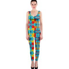 Pop Art Abstract Design Pattern Onepiece Catsuit by Amaryn4rt
