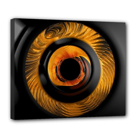 Fractal Mathematics Abstract Deluxe Canvas 24  X 20   by Amaryn4rt