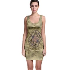 Fractal Art Colorful Pattern Sleeveless Bodycon Dress