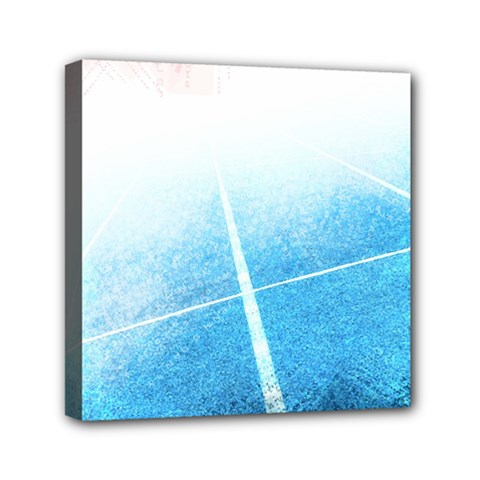 Court Sport Blue Red White Mini Canvas 6  X 6  by Amaryn4rt