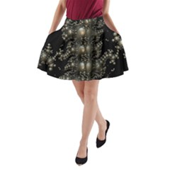 Fractal Math Geometry Backdrop A Line Pocket Skirt by Amaryn4rt