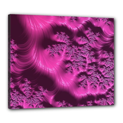Fractal Artwork Pink Purple Elegant Canvas 24  X 20