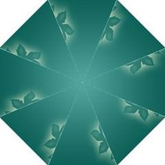 Leaf Green Blue Branch  Texture Thread Folding Umbrellas by Alisyart